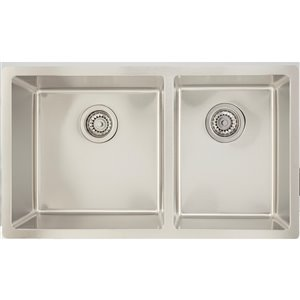 "American Imaginations Undermount Double Sink - 31"" - Stainless Steel"