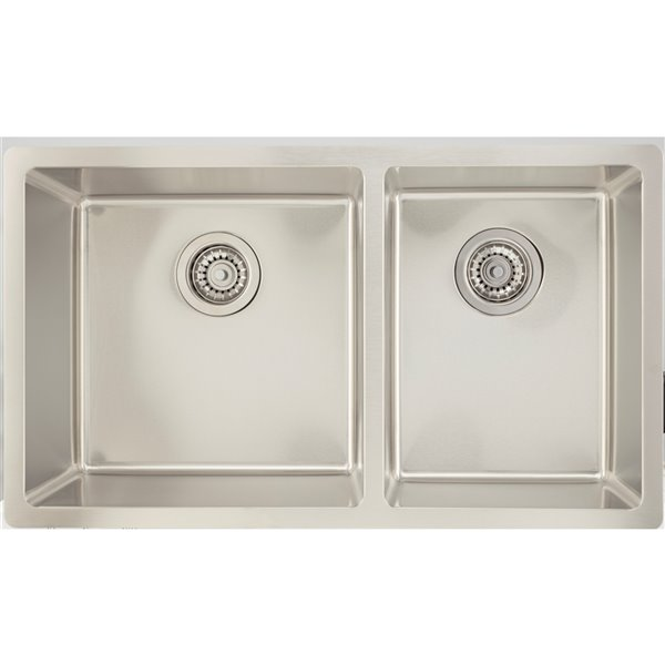 """American Imaginations Undermount Double Sink - 31"""" - Chrome"""