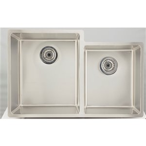 "American Imaginations Undermount Double Sink - 31.25"" x 20"" - Stainless Steel"