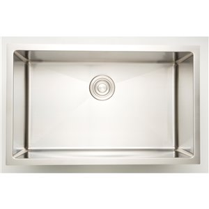 """American Imaginations Undermount Single Sink - 32"""" - Stainless Steel - Chrome"""