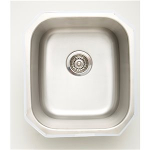 "American Imaginations Undermount Single Sink - 16.5"" - Stainless Steel"