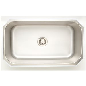 """American Imaginations Undermount Sink - 31.5"""" x 18"""" - Stainless Steel"""