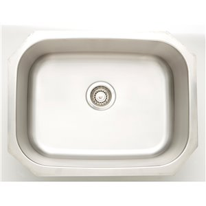"American Imaginations Undermount Sink - 23.25"" x 17.75"" - Stainless Steel"