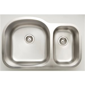 """American Imaginations Double Sink - 31.5"""" x 20.5"""" - Stainless Steel"""