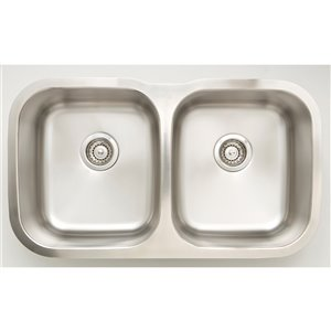 """American Imaginations Undermount Double Sink - 32.25"""" x 18.87"""" - Stainless Steel"""