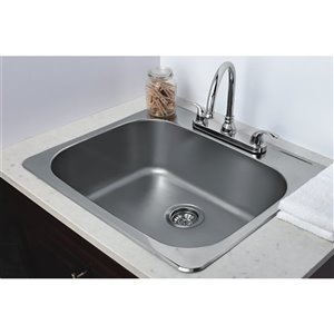 "American Imaginations Single Sink - 22"" - Stainless Steel"