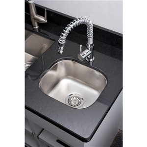 "American Imaginations Undermount Single Sink - 15"" x 13"" - Stainless Steel"