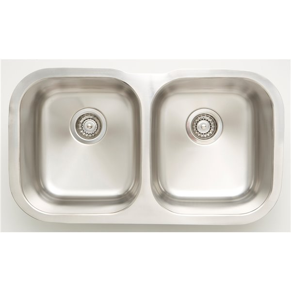 "American Imaginations Undermount Double Sink - 29.5"" x 17"" - Stainless Steel"