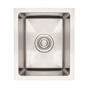 """American Imaginations Undermount Sink - 12"""" x 16"""" - Stainless Steel"""