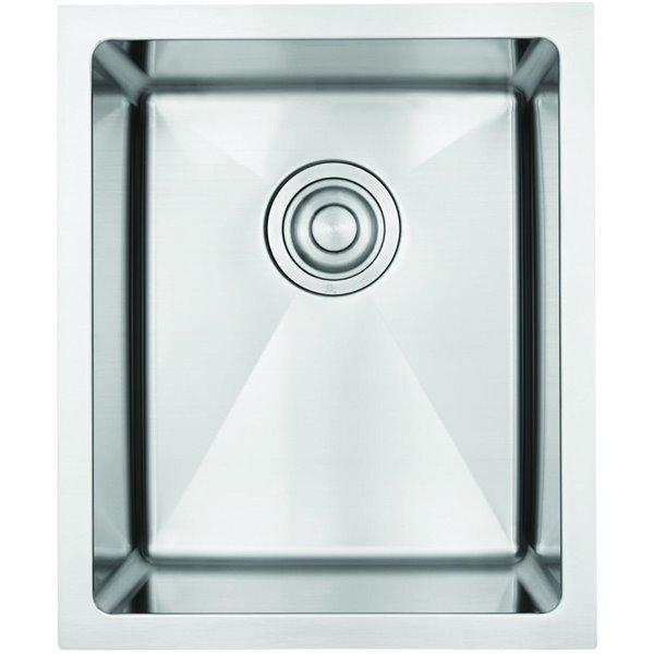 """American Imaginations Undermount Sink - 15"""" x 18"""" - Stainless Steel"""