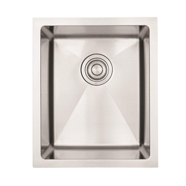 "American Imaginations Undermount Single Sink - 15"" x 18"" - Stainless Steel"