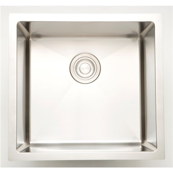 "American Imaginations Undermount Sink - 17"" x 17"" - Stainless Steel"