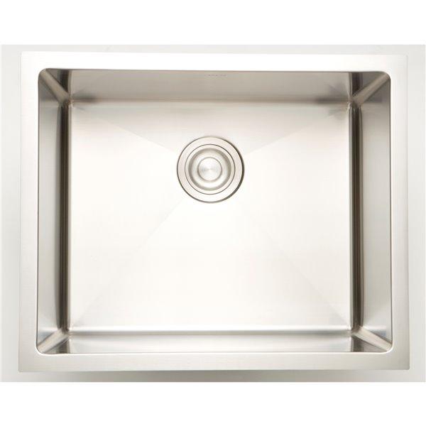 "American Imaginations Undermount Single Sink - 19"" x 18"" - Stainless Steel"