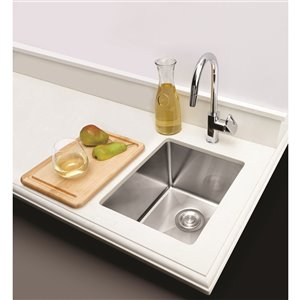 """American Imaginations Undermount Sink - 16"""" x 16"""" - Stainless Steel"""
