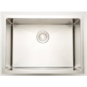 "American Imaginations Undermount Single Sink - 22"" x 18"" - Stainless Steel"