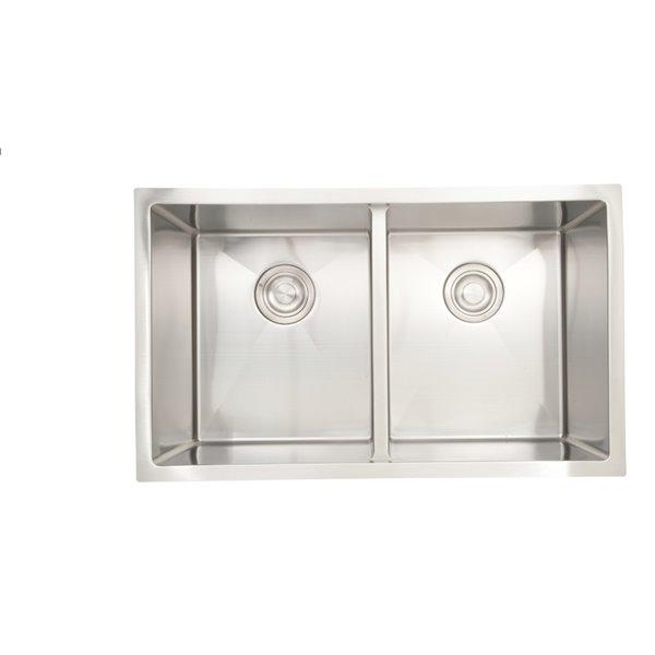 "American Imaginations Undermount Sinks - 30"" - Stainless Steel"