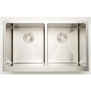"""American Imaginations Undermount Double Sink - 31"""" x 18"""" - Stainless Steel"""