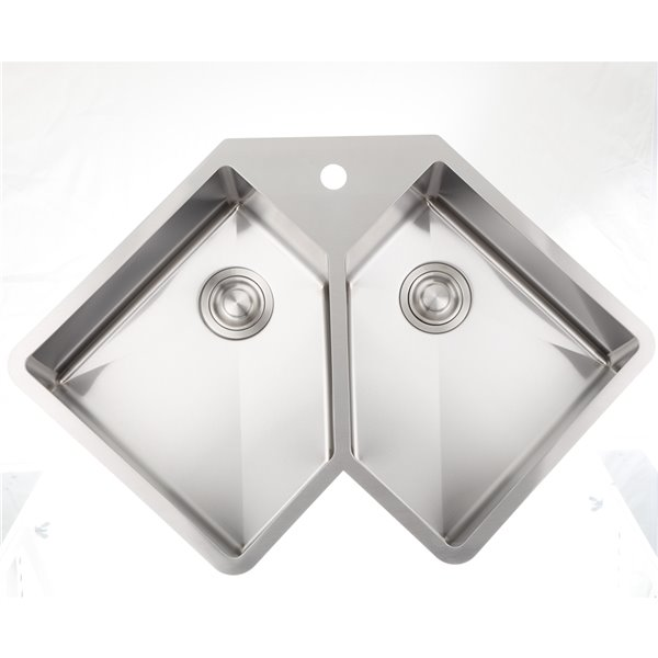 """American Imaginations Double Sink - 36.37"""" x 24.75"""" - Stainless Steel"""