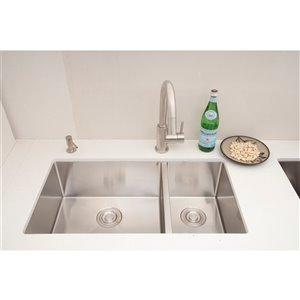 "American Imaginations Double Sink - 33"" - Stainless Steel"