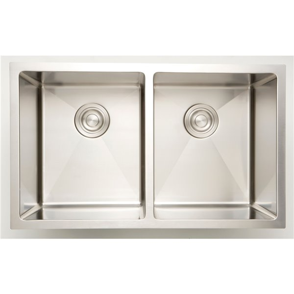 "American Imaginations Undermount Sinks - 18"" - Stainless Steel - Chrome"