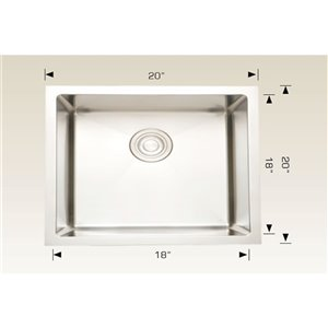 Laundry Sink - Stainless Steel - Chrome