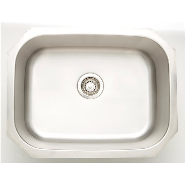 "Laundry Sink - 24.75"" - Stainless Steel - Chrome"