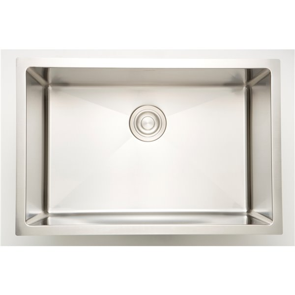 """Laundry Sink - 27"""" x 18"""" - Stainless Steel - Chrome"""