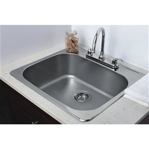"American Imaginations Laundry Sink - 25"" - Stainless Steel"