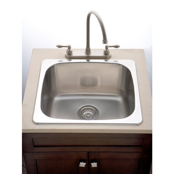 """American Imaginations Laundry Sink - 20"""" x 18"""" - Stainless Steel"""