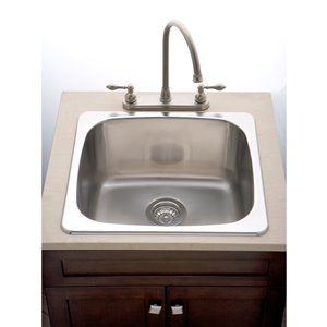 "American Imaginations Laundry Sink - 20"" x 18"" - Stainless Steel"