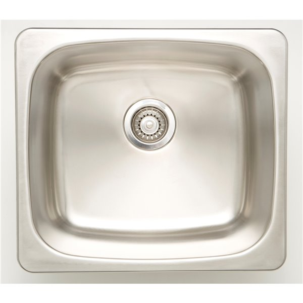 """American Imaginations Laundry Sink - 20"""" - Stainless Steel - Chrome"""