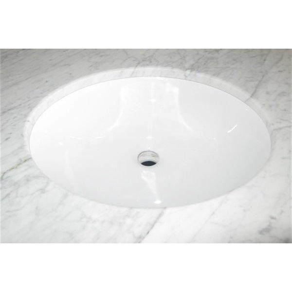 """Lavabo encastré, 18,12"""", ovale, blanc"""