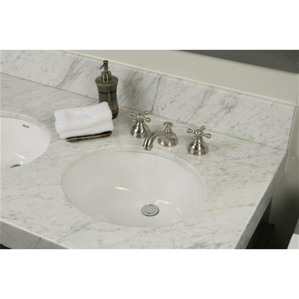 "Évier de salle de bain, 21"", ovale, blanc"