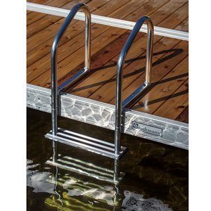Multinautic 15513 4-Step Aluminum Tubular Dock Ladder,15513