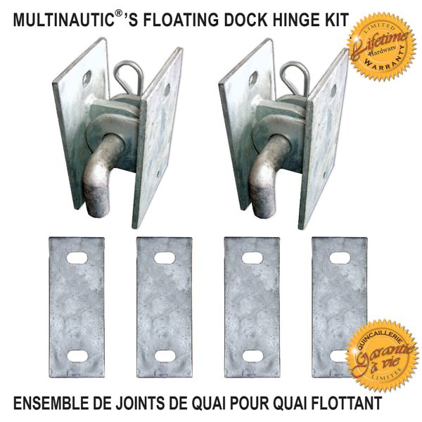 Multinautic 19107 Floating Dock Hinge Kit,19107