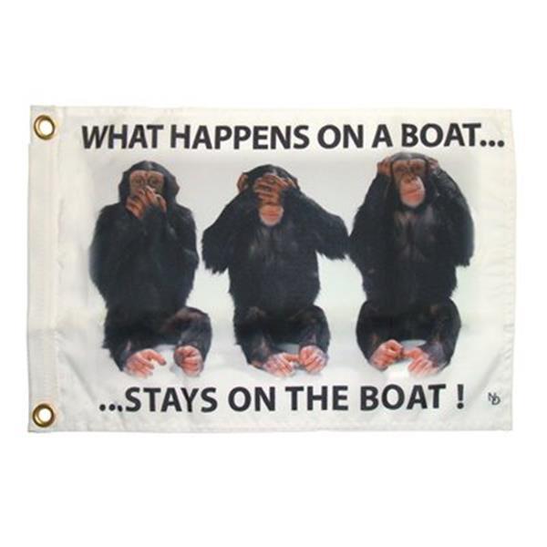 "Multinautic 35703 ""Stays on Boat"" NAUTI Funny Flag,35703"