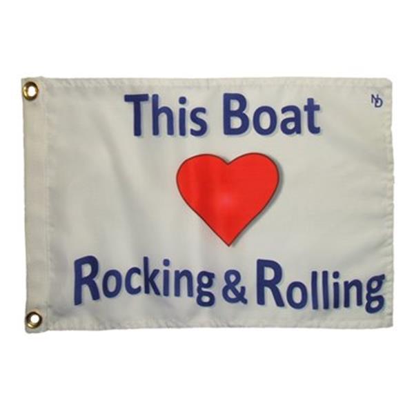 "Multinautic 35705 ""Rocking and Rolling"" NAUTI Funny Flag,357"