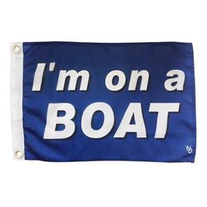 """Multinautic 35706 """"I'm on a Boat"""" NAUTI Funny Flag,35706"""