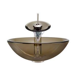 MR Direct Taupe Bathroom Waterfall Faucet Ensemble,601-TAU-W