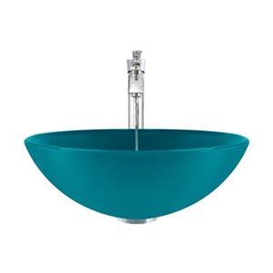 MR Direct Turquoise Bathroom 726 Vessel Faucet Ensemble,601-