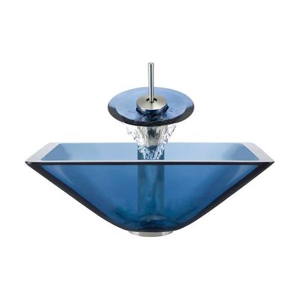 MR Direct Aqua Bathroom Waterfall Faucet Ensemble,603-AQ-WF-