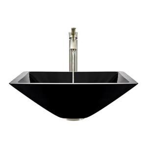 MR Direct Black Bathroom 726 Vessel Faucet Ensemble,603-BL-7