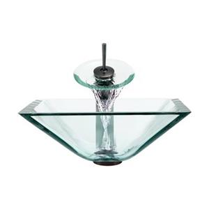 MR Direct Crystal Bathroom Waterfall Faucet Ensemble,603-CR-