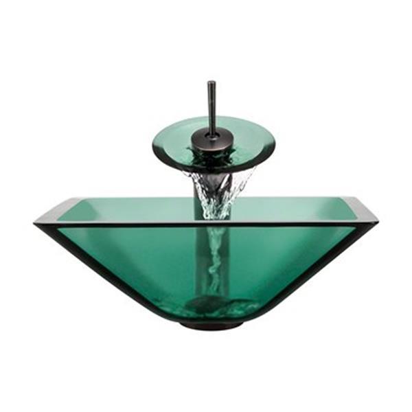 MR Direct Emerald Bathroom Waterfall Faucet Ensemble,603-E-W