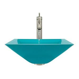MR Direct Turquoise Bathroom 718 Vessel Faucet Ensemble,603-