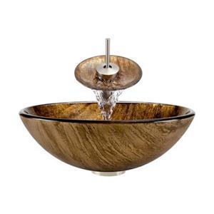 The MR Direct Bathroom Waterfall Faucet Ensemble,632-WF-BN