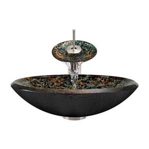 The MR Direct Bathroom Waterfall Faucet Ensemble,634-WF-BN