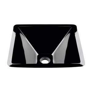 MR Direct Square Glass Vessel Sink,603-Black