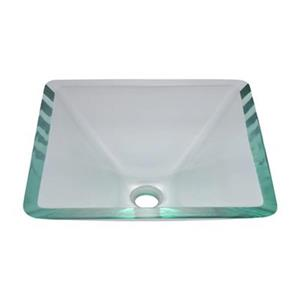 MR Direct Square Glass Vessel Sink,603-Crystal