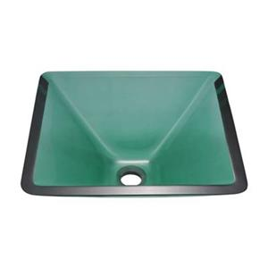 MR Direct Square Glass Vessel Sink,603-Emerald